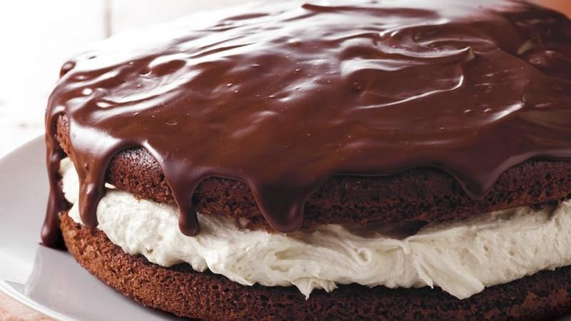 Giant Ganache-Topped Whoopie Pie