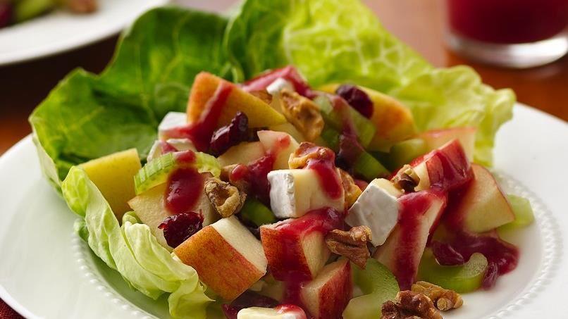 Apple-Walnut Salad with Cranberry Vinaigrette