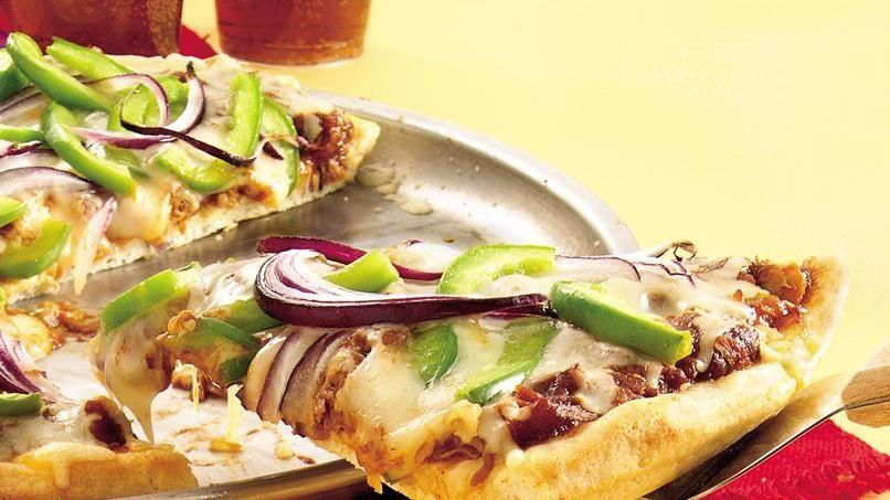 Barbecue Pork and Veggie Pizza