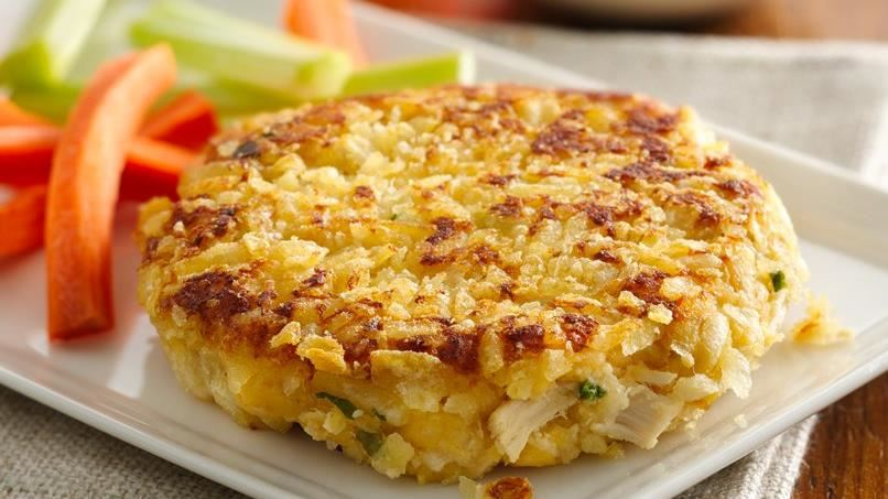Crispy Coated Potato Chicken Cakes