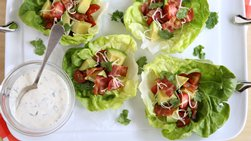 Bacon-Ranch Lettuce Cups