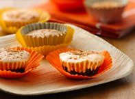 Mini Pumpkin Pie Yogurt Cheesecakes