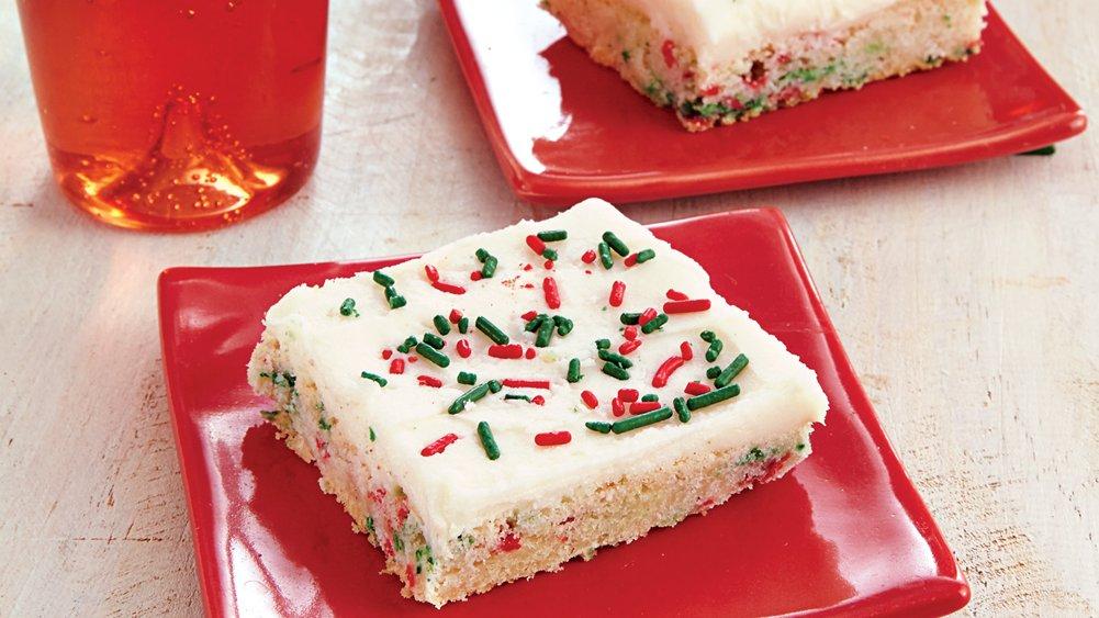 Easiest-Ever Holiday Sugar Cookie Bars