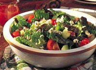 Garden Salad with Honey French Dressing