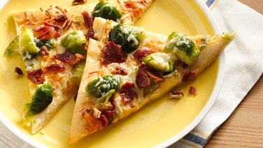 Honey and Bacon Brussels Sprouts Pizza