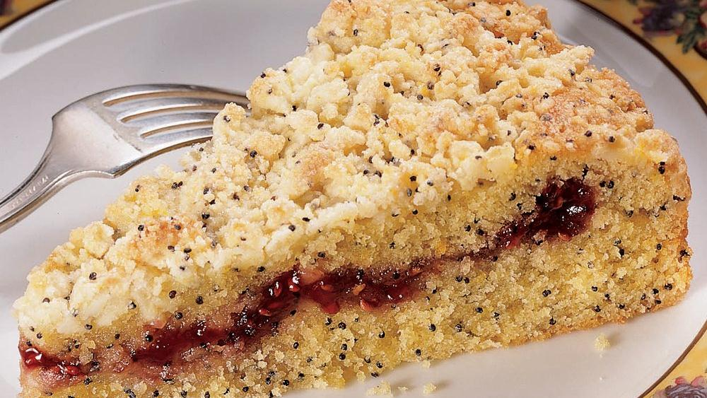 Lemon-Poppy Seed-Raspberry Coffee Cake