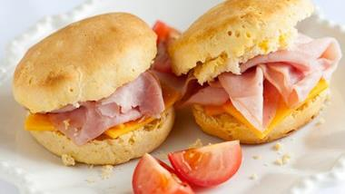 Honey Biscuits with Ham and Cheese