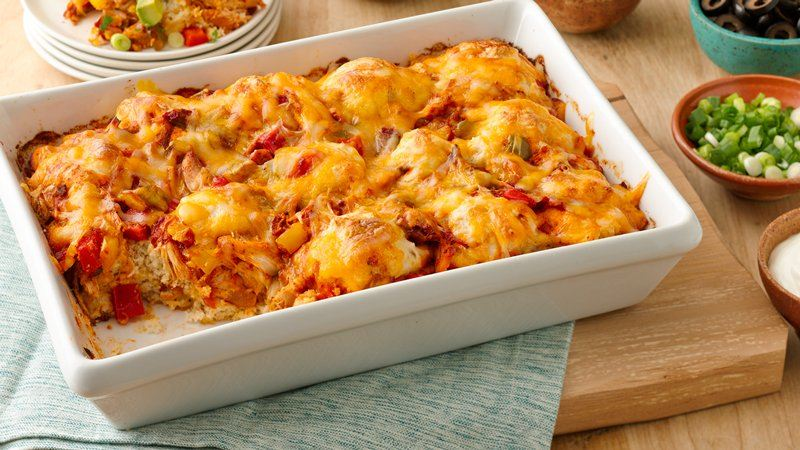 Impossibly Easy Salsa Chicken Bake recipe from Betty Crocker