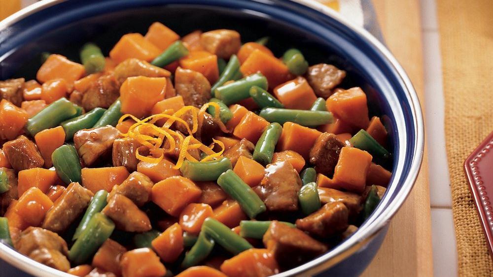Teriyaki Pork and Sweet Potatoes