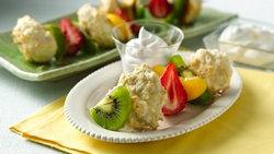 Fruit and Shortcake Kabobs
