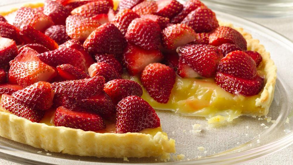 Meyer Lemon and Strawberry Tart