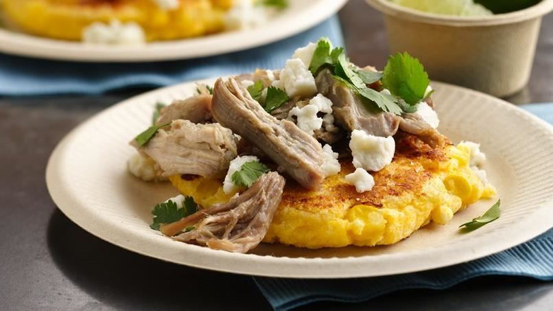 Arepas with Corn and Pulled Pork