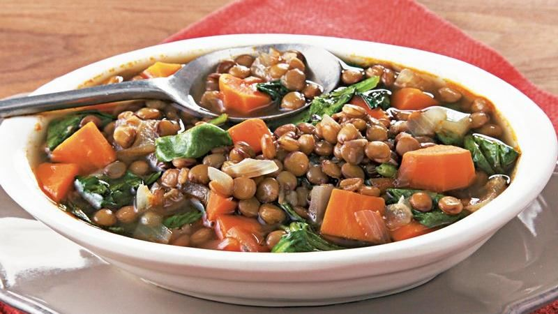 Slow-Cooker Lentil and Spinach Soup