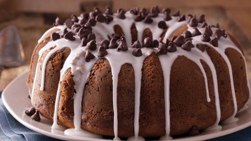 Pumpkin-Chocolate Pound Cake