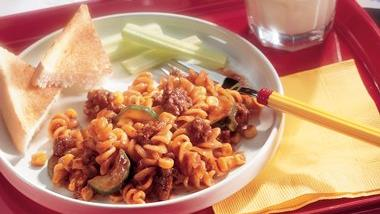 Sloppy Joe Rotini (Ghoulish Goulash)