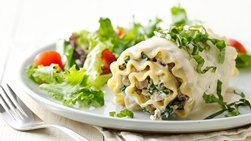 Make-Ahead White Lasagna Roll-Ups with Turkey and Prosciutto