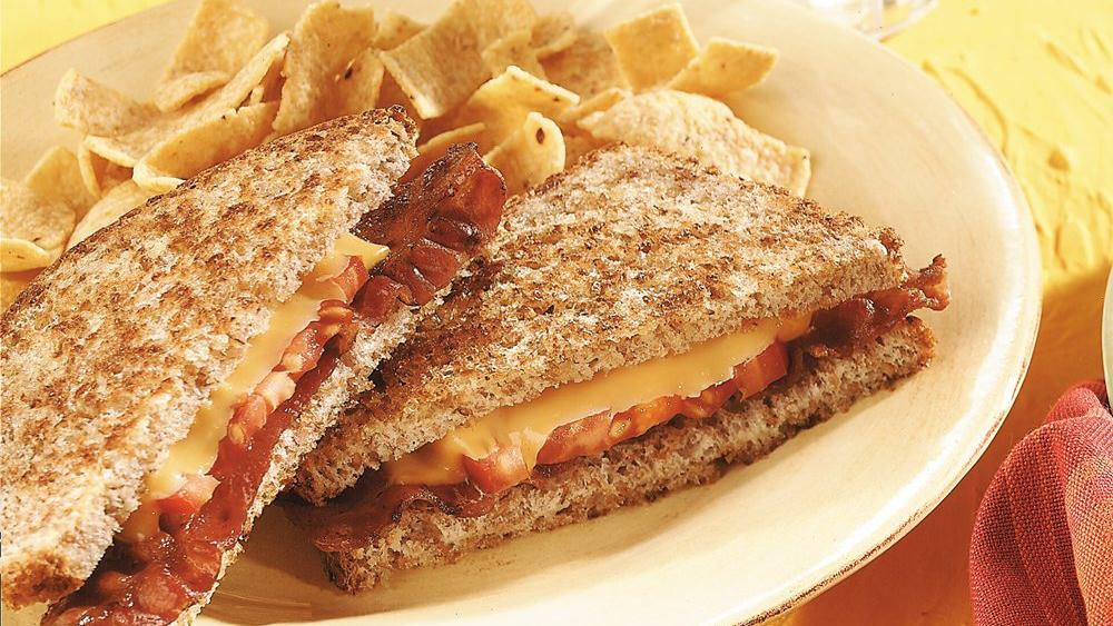 Grilled Bacon, Tomato and Cheese Sandwiches