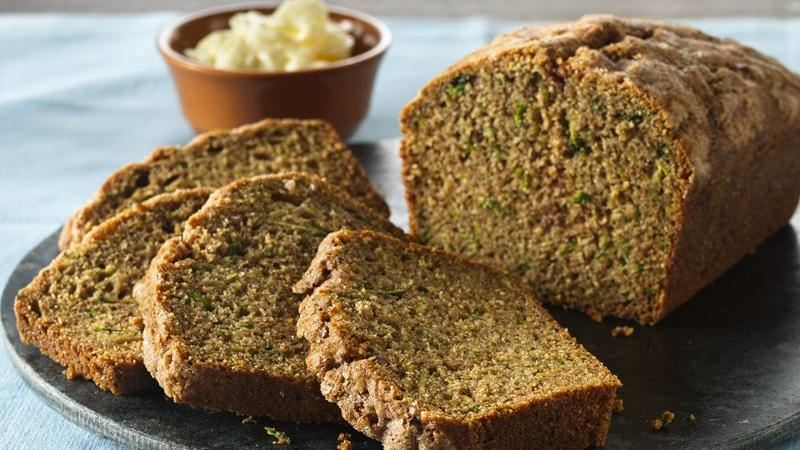Cinnamon-Topped Whole Wheat Zucchini Bread