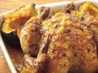 Maple Roast Chicken and Squash