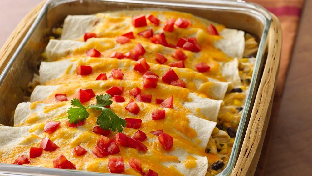 Creamy Chicken Chile Enchiladas