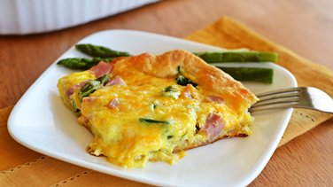 Ham and Asparagus Breakfast Bake