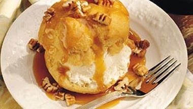 Praline Ice-Cream Puffs