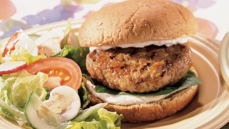 Turkey Burgers with Herb Cheese