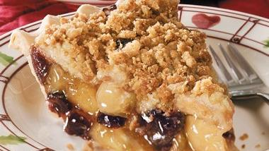 Cranberry-Apple Streusel Pie
