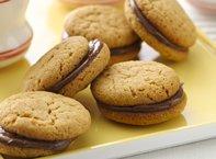 Hazelnut Peanut Butter Sandwich Cookies