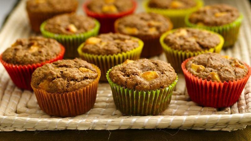 Muffins de Avena y Durazno