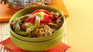 Asian Chicken and Noodle Pouches