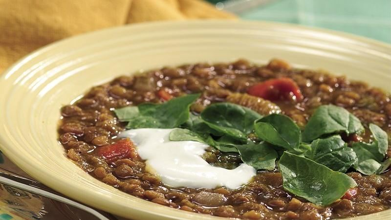 Slow-Cooker Curried Lentil Soup