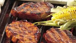 Hoisin Glazed Pork Chops