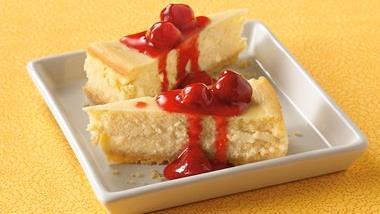 Key Lime Cheesecake with Raspberry Sauce