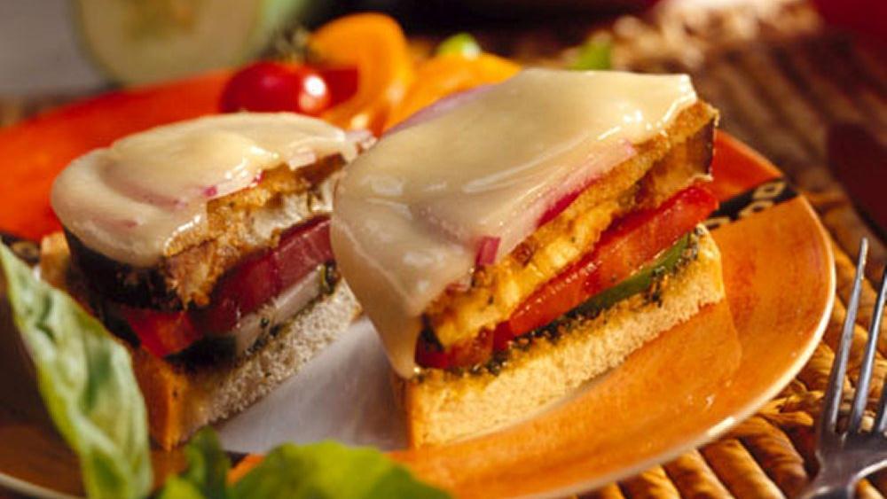 Pesto-Eggplant Sandwiches