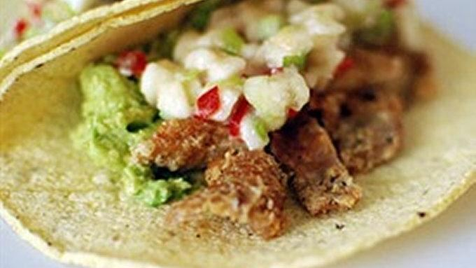 Chicken Skin Tacos with Habanero Banana Salsa recipe - from Tablespoon ...