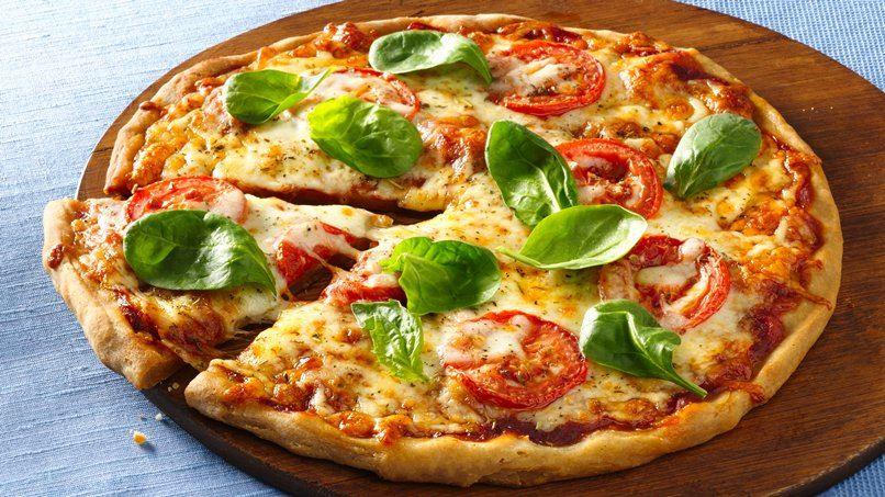 Gluten-Free Tomato and Mozzarella Pizza