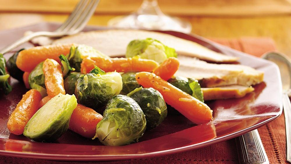 Honey-Lemon Brussels Sprouts and Carrots