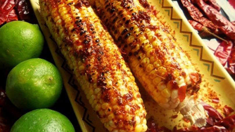 Grilled Elote with Chipotle Honey Butter & Chile Limón