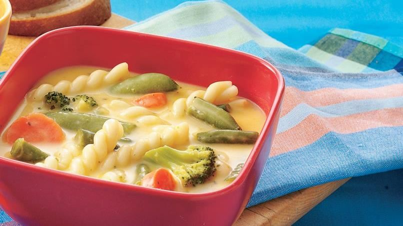 Cheesy Pasta-Vegetable Soup