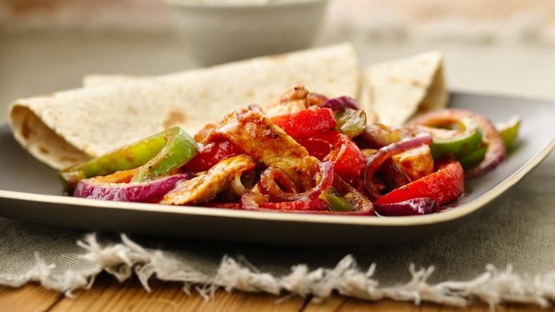 Barbecued Pork Fajitas