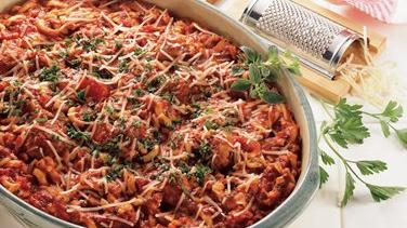 Make-Ahead Spaghetti and Meatball Casserole