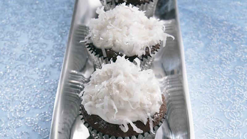Snowball Cupcakes
