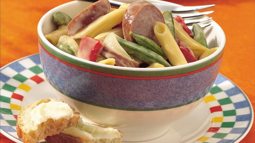 Penne with Vegetables and Kielbasa