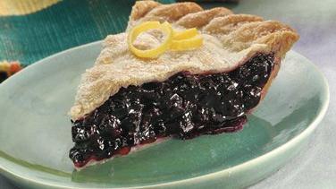 Ginger-Lemon-Blueberry Pie