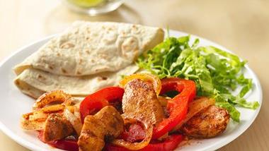 Sizzling Grilled Chicken Fajitas Foil Packs