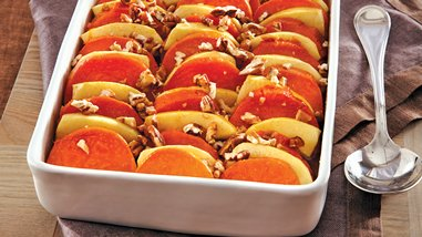 Glazed Apples and Sweet Potatoes