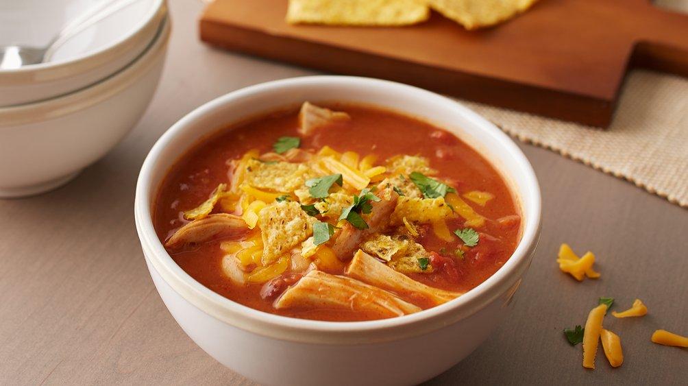 Quick Chicken Tortilla Soup recipe from Pillsbury.com