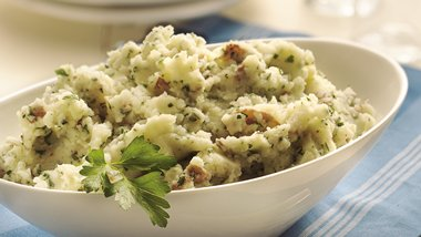 Gluten-Free Parsley Smashed Potatoes