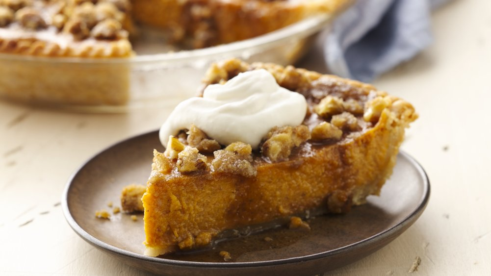 Gluten-Free Maple Walnut Pumpkin Pie